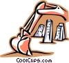backhoe Vector Clipart picture