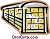 Vector Clip Art graphic  of a railcar