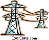hydro lines Vector Clip Art graphic