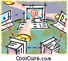 Vector Clipart picture  of a intranet network