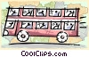 Vector Clipart picture  of a double decker bus