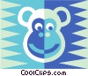Vector Clip Art image  of a monkey symbol