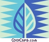Vector Clipart illustration  of a leaf symbol