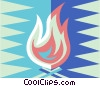 Vector Clipart picture  of a camp fire