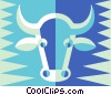 Vector Clip Art graphic  of a cow symbol