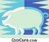 Vector Clipart graphic  of a pig symbol