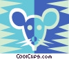 Vector Clipart illustration  of a mouse symbols