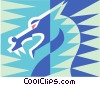 Vector Clip Art image  of a dragon