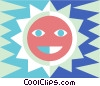 Vector Clipart picture  of a sun symbol