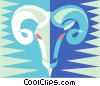 Vector Clip Art graphic  of a ram
