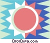 sun symbol Vector Clipart graphic