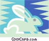 rabbit symbol Vector Clipart picture