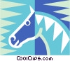 Vector Clipart graphic  of a horse symbol