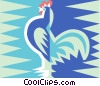rooster symbol Vector Clipart illustration