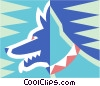 Vector Clip Art image  of a dog symbol