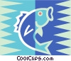 fish symbol Vector Clipart illustration