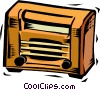 Vector Clip Art graphic  of an antique radio