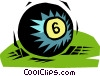 billiard ball Vector Clipart graphic