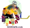 Hockey player Vector Clip Art picture
