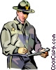 police officer Vector Clip Art picture