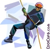 Mountain climber Vector Clipart image