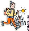 Vector Clipart graphic  of a hiker