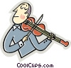 Vector Clip Art graphic  of a Violinists