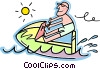 Vector Clip Art image  of a Personal watercraft