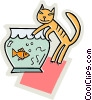 Fishbowls Vector Clipart graphic