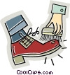 Vector Clipart illustration  of a Shoe Shiners