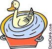 Vector Clipart graphic  of a Ducks