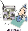 Vector Clip Art graphic  of a Radios