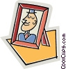 Vector Clipart illustration  of a Portrait of father