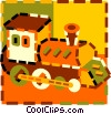 Vector Clip Art picture  of a toy train