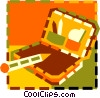 Vector Clip Art picture  of a makeup case