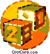 Vector Clip Art image  of a building blocks