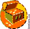 Vector Clipart illustration  of a treasure chest