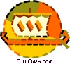 Vector Clipart illustration  of a Viking boat