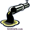 Vector Clip Art graphic  of a oil pipeline