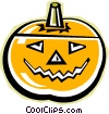 Vector Clip Art picture  of a jack o lantern