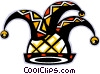 Vector Clip Art graphic  of a jester hat