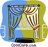 Vector Clipart graphic  of a curtains