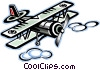 Vector Clip Art graphic  of a Biplane