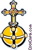 Vector Clipart graphic  of a religious cross
