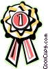 Vector Clipart graphic  of a first place ribbon