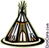 teepee Vector Clip Art graphic