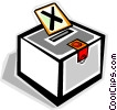 Vector Clip Art graphic  of a Ballot box