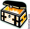 treasure chest Vector Clip Art image