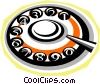 Vector Clip Art image  of a telephone dial