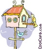 bird house Vector Clipart picture